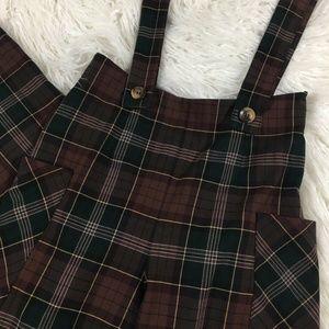 Zara Pants - ZARA brown plaid jumpsuit overalls